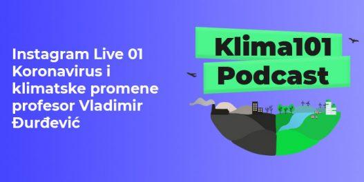 Instagram Live 01 Koronavirus i borba protiv klimatskih promena - profesor Vladimir Đurđević